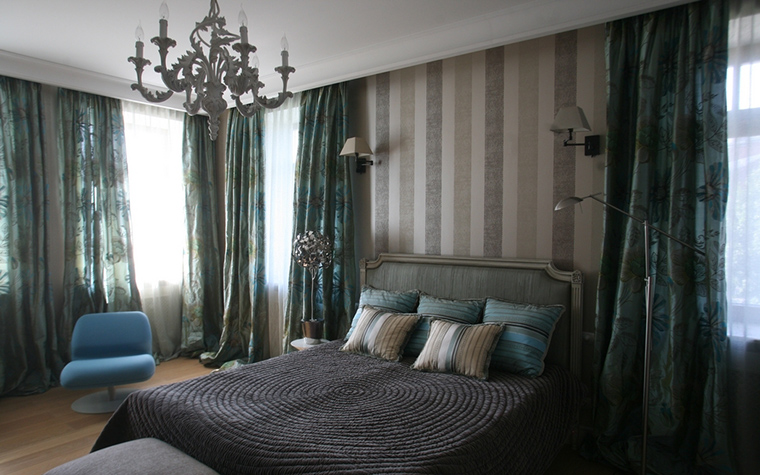Фото № 12694 спальня  Загородный дом