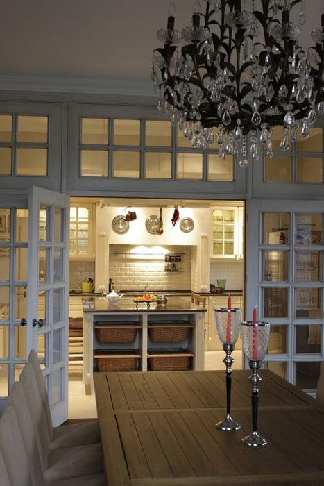 Фото № 12835 кухня  Загородный дом