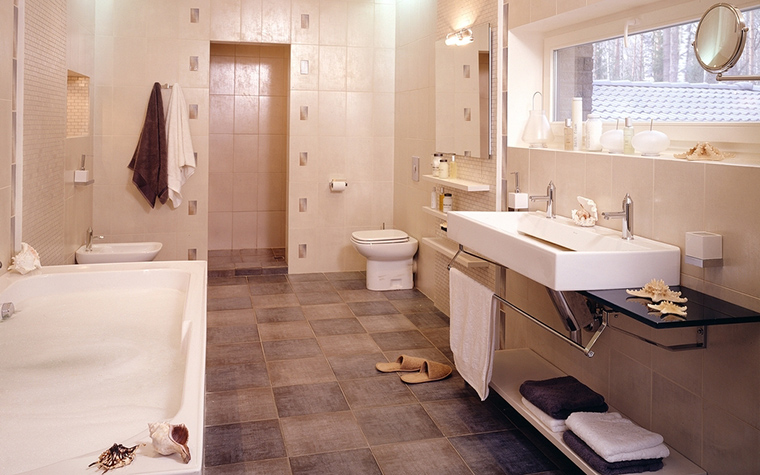 Фото № 13551 ванная  Загородный дом