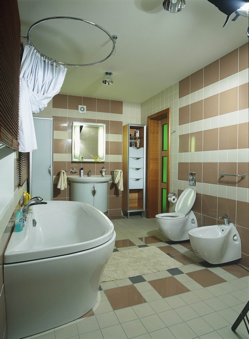 Загородный дом. ванная из проекта , фото №13577