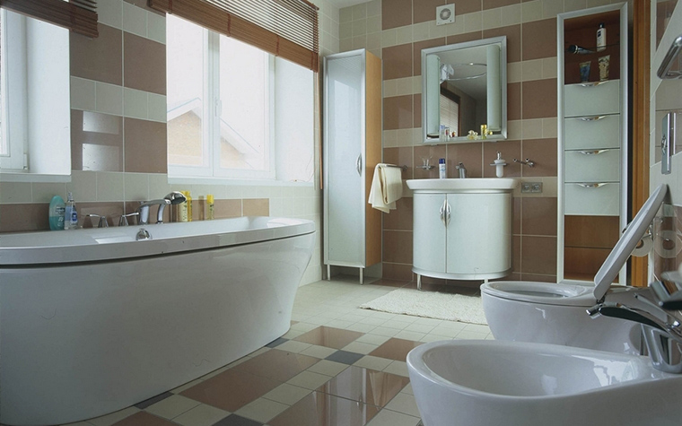 Загородный дом. ванная из проекта , фото №13578