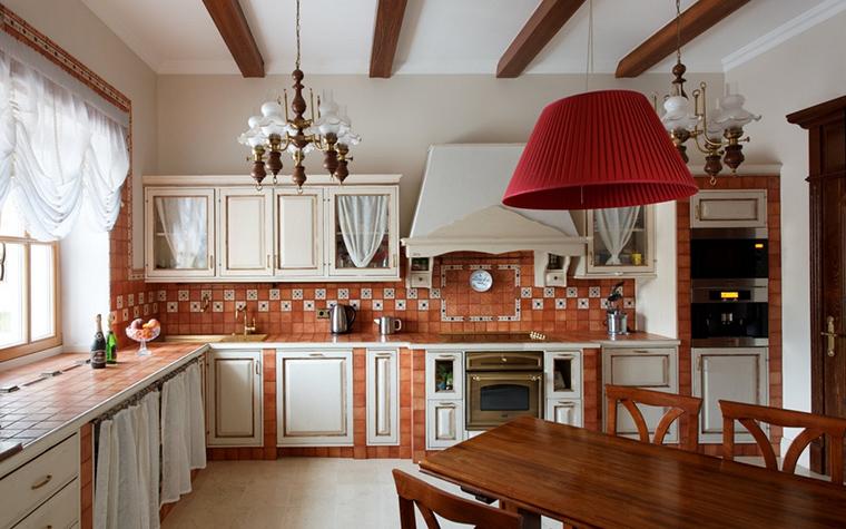 Загородный дом. кухня из проекта , фото №13854