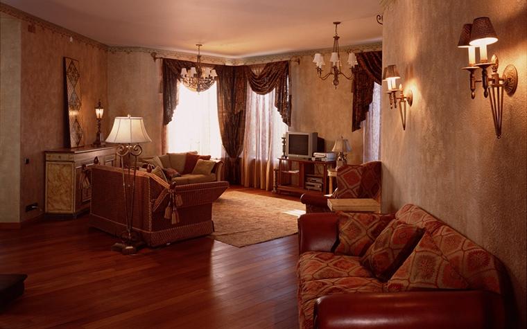 Фото № 13864 гостиная  Загородный дом