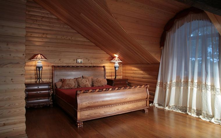Загородный дом. спальня из проекта , фото №14052