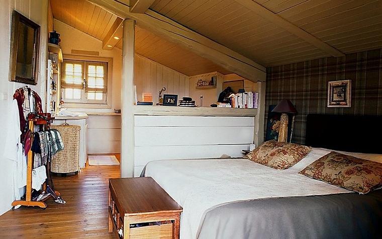 Загородный дом. спальня из проекта , фото №10785