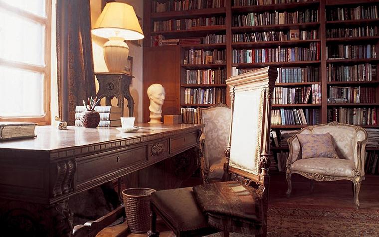 Фото № 14150 кабинет библиотека  Загородный дом