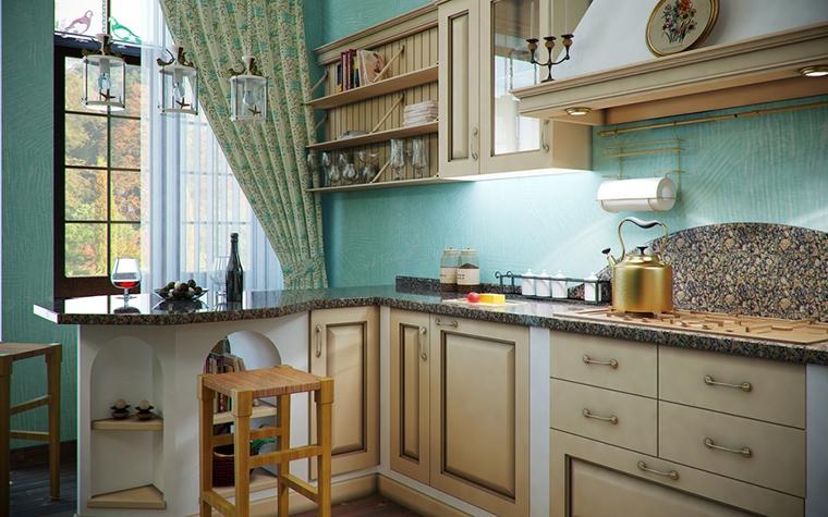Фото № 14495 кухня  Загородный дом