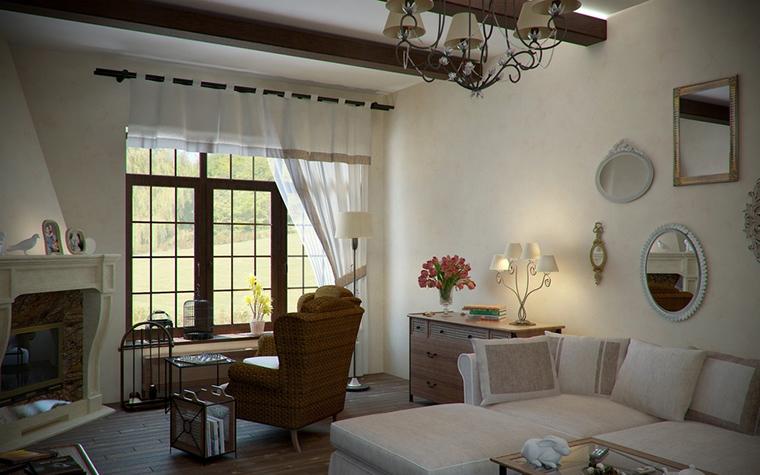 интерьер гостиной - фото № 14482