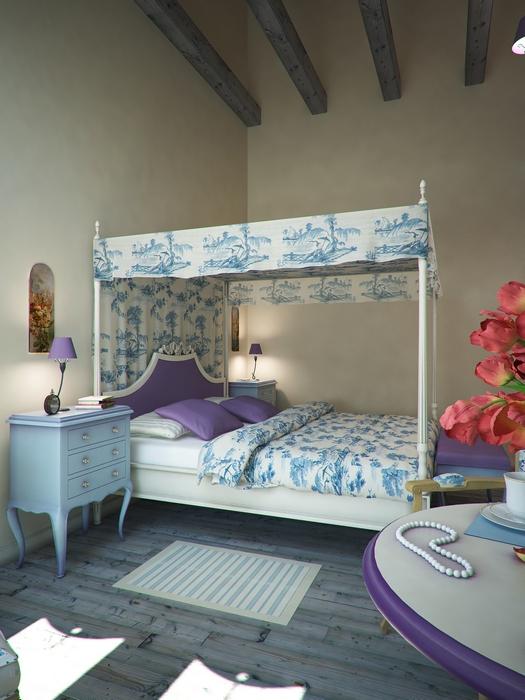 Загородный дом. спальня из проекта , фото №14500