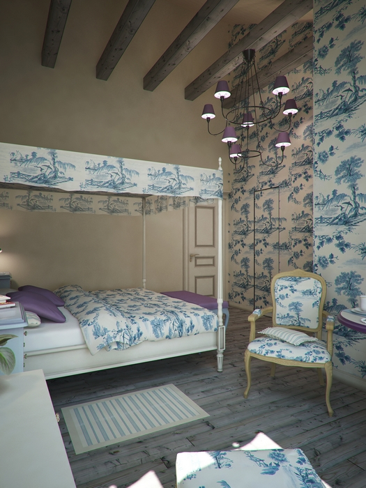 Загородный дом. спальня из проекта , фото №14501