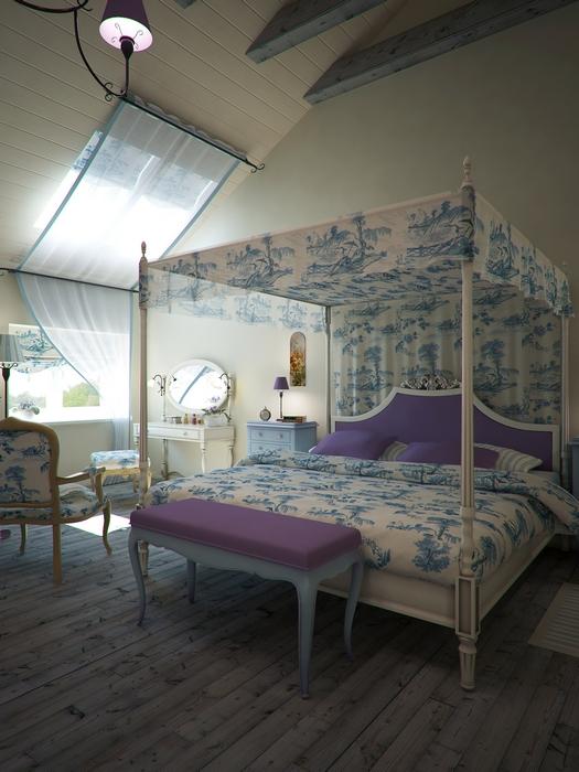 Загородный дом. спальня из проекта , фото №14502