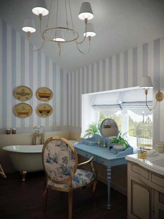 Фото № 14503 ванная  Загородный дом