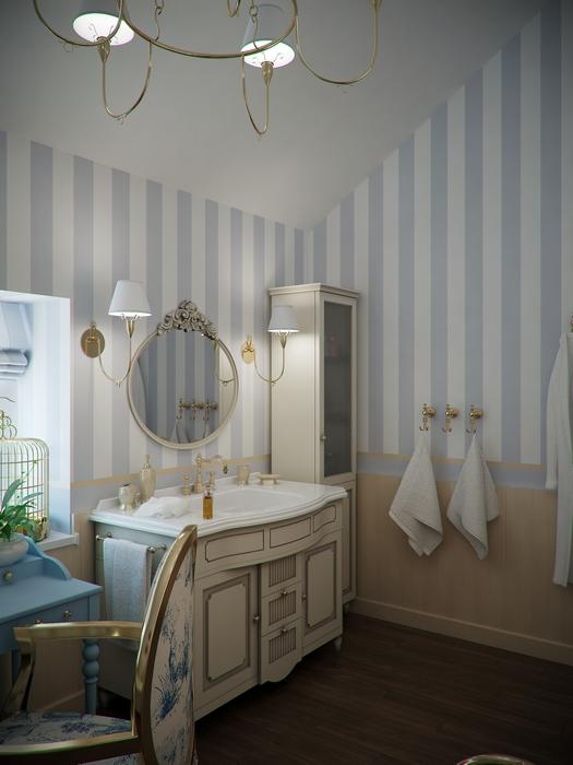 Фото № 14504 ванная  Загородный дом