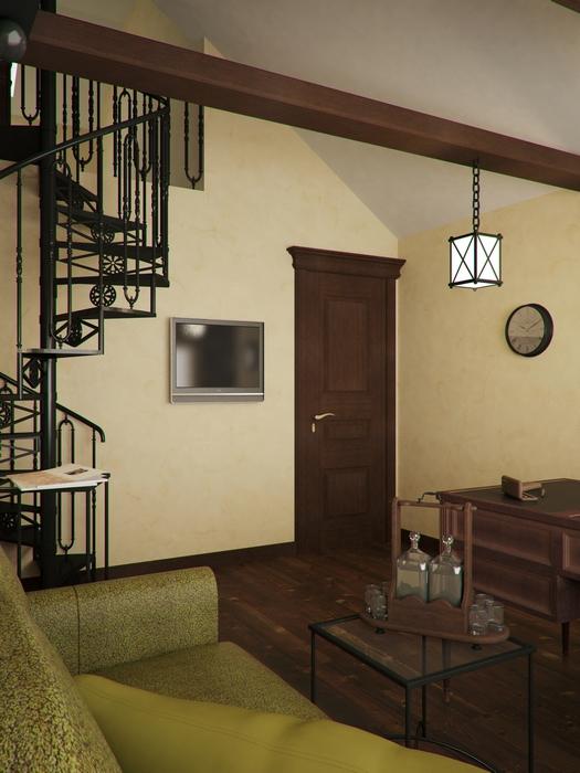 Фото № 14488 кабинет библиотека  Загородный дом