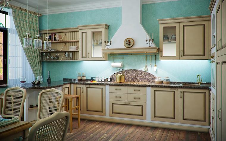 Фото № 14491 кухня  Загородный дом