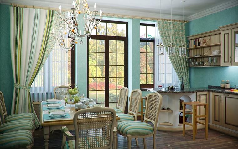 Фото № 14494 кухня  Загородный дом