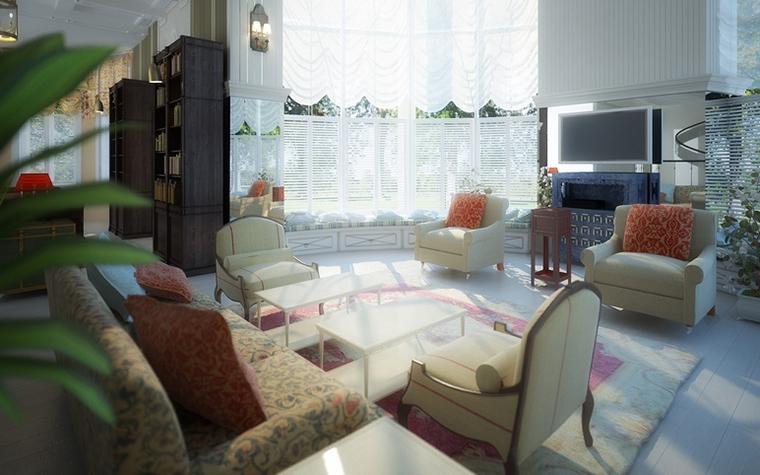 Загородный дом. гостиная из проекта , фото №14819