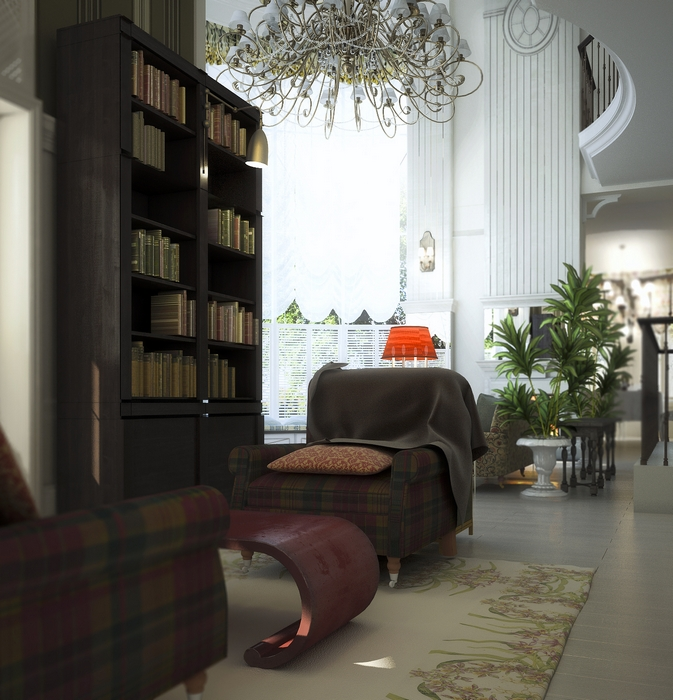 Загородный дом. гостиная из проекта , фото №14820