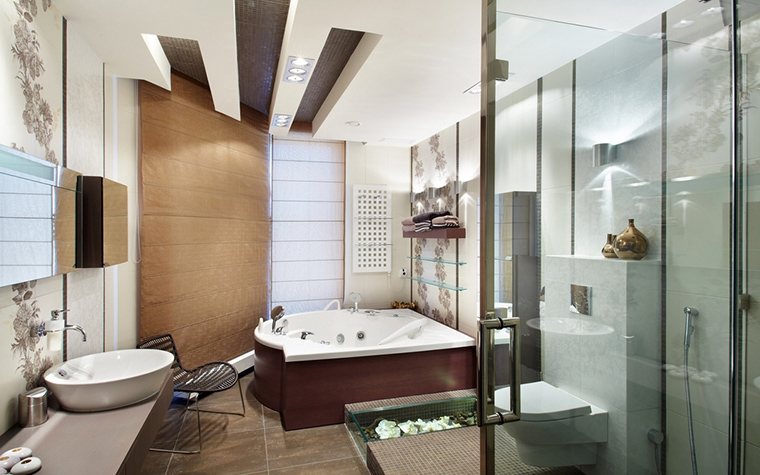 Загородный дом. ванная из проекта , фото №15186