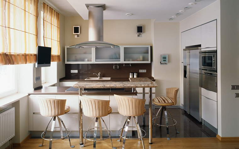 Фото № 15296 кухня  Загородный дом