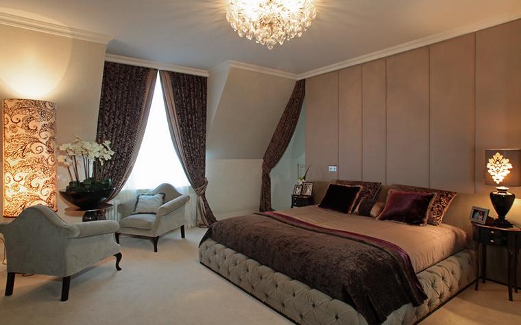 Фото № 15981 спальня  Загородный дом