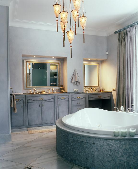 Фото № 16304 ванная  Загородный дом