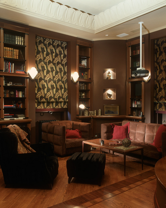 Фото № 16307 кабинет библиотека  Загородный дом