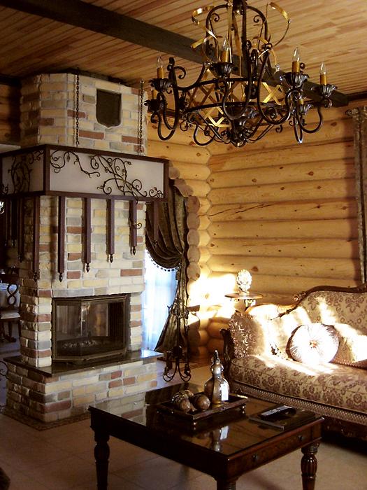 Загородный дом. гостиная из проекта , фото №16440