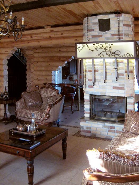 Загородный дом. гостиная из проекта , фото №16442