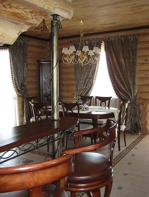 Загородный дом. столовая из проекта , фото №16487