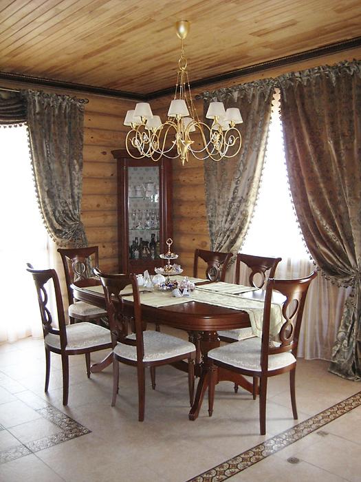 Загородный дом. столовая из проекта , фото №16444