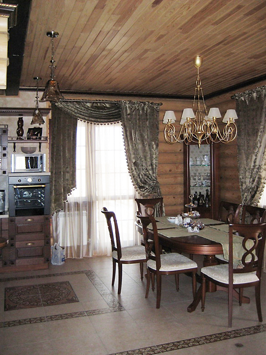 Загородный дом. столовая из проекта , фото №16445