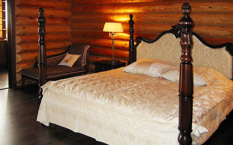 Загородный дом. спальня из проекта , фото №16446