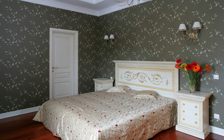 Загородный дом. спальня из проекта , фото №17263