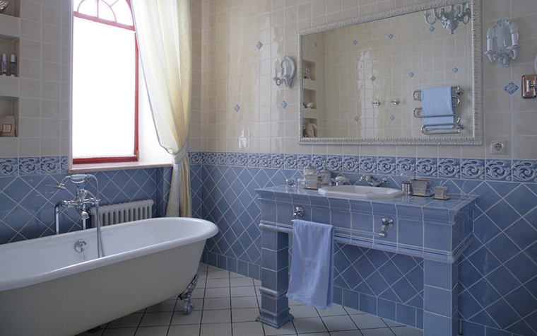 Загородный дом. ванная из проекта , фото №17265