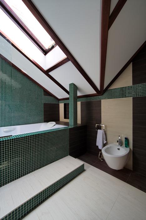 Загородный дом. ванная из проекта , фото №17554