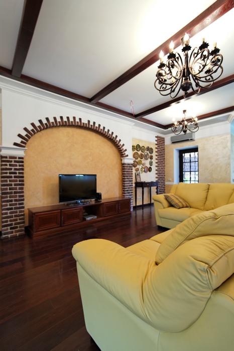 Загородный дом. гостиная из проекта , фото №17549