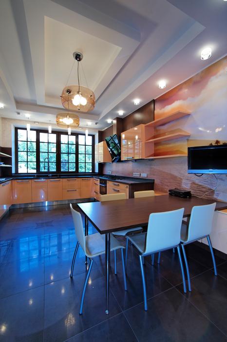 Фото № 17442 кухня  Загородный дом