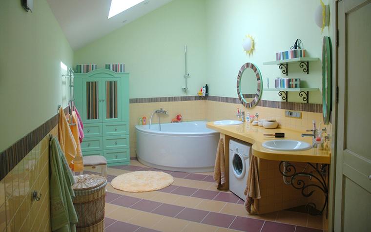 Загородный дом. ванная из проекта , фото №17903