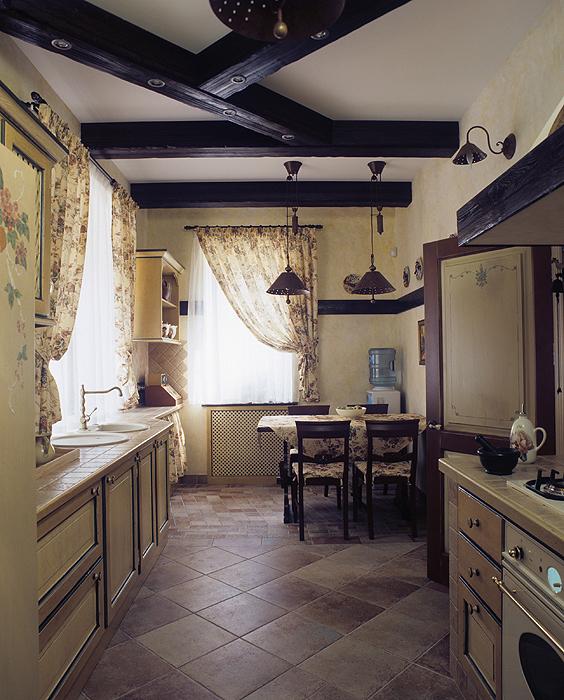 Фото № 17918 кухня  Загородный дом