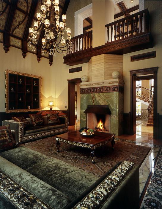 Фото № 17983 гостиная  Загородный дом