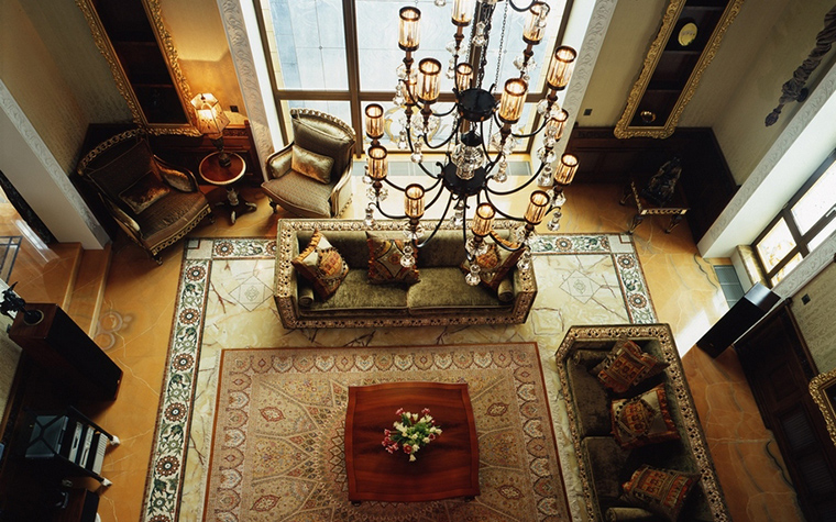 Фото № 20413 гостиная  Загородный дом