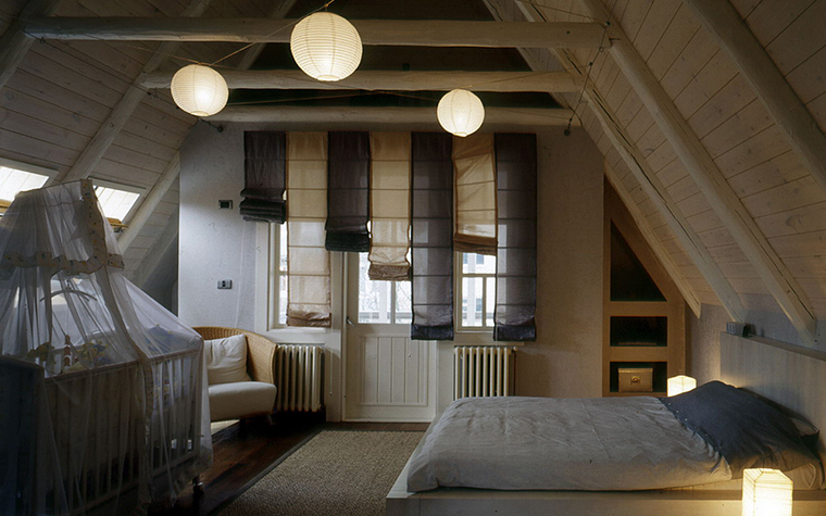 Фото № 18042 спальня  Загородный дом