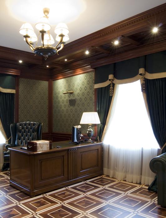 Фото № 18080 кабинет библиотека  Загородный дом