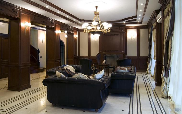 Фото № 18069 гостиная  Загородный дом
