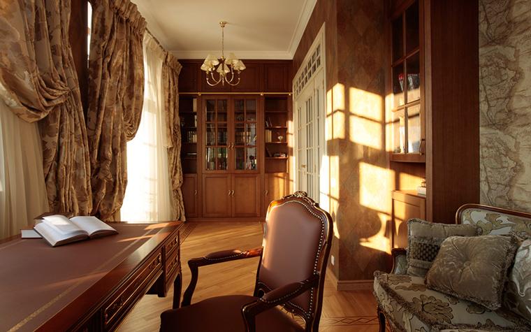 Загородный дом. кабинет из проекта , фото №18209