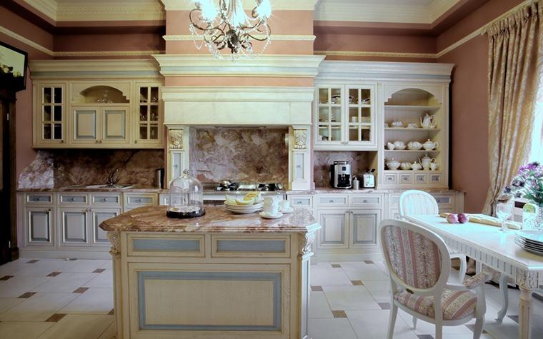 Фото № 18729 кухня  Загородный дом