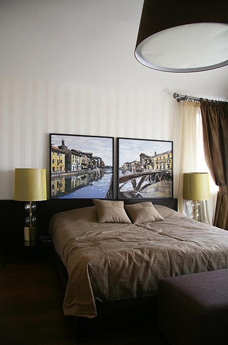 Фото № 18765 спальня  Загородный дом