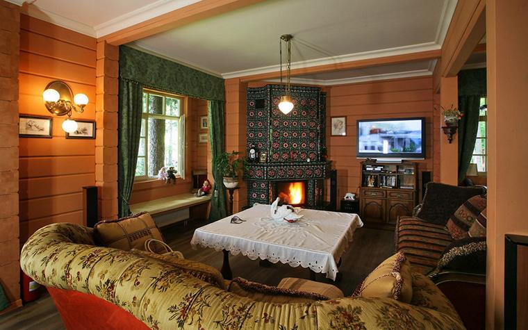 Загородный дом. гостиная из проекта , фото №19341