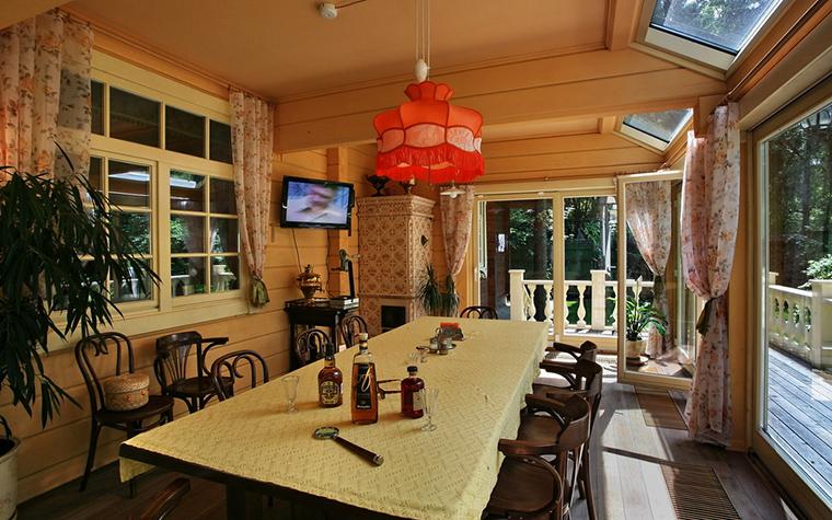 Загородный дом. столовая из проекта , фото №19334
